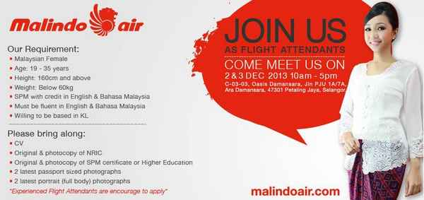 Malindo Air Job Vacancies December 2013