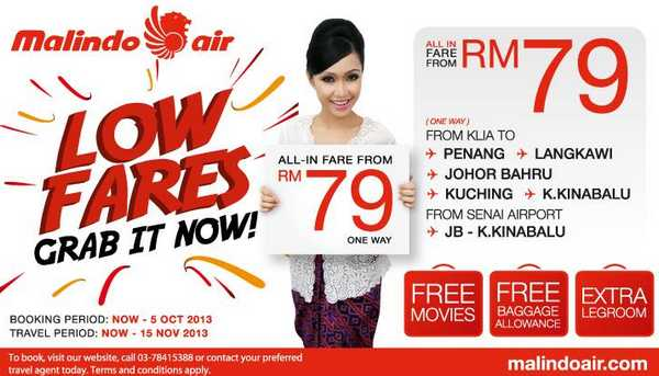 Malindo Air Low Fares Promotion