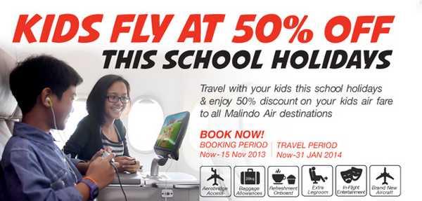 Malindo Air Kids Half Price Promotion