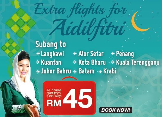 Malindo Air Extra Flights for Aidilfitri