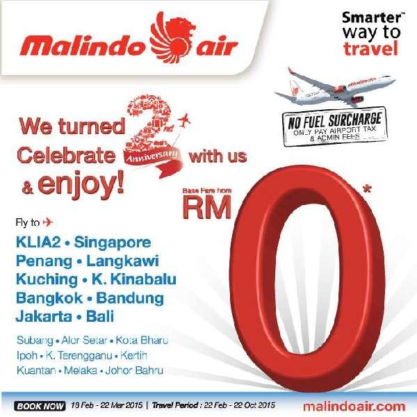 Malindo Air Promotion RM0