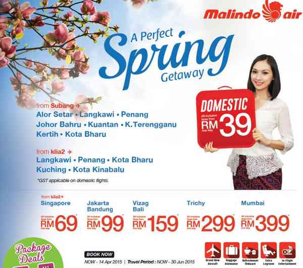 Malindo Air Spring Getaway Promotion