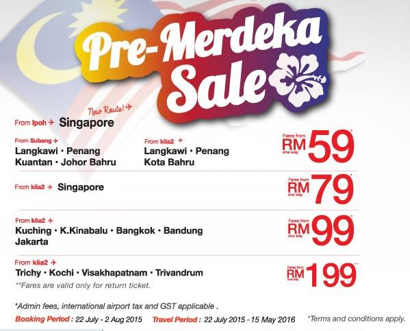 Malindo Air Pre Merdeka Sale