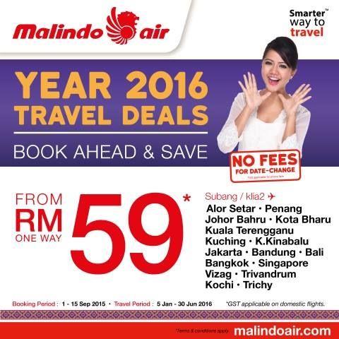 Malindo Air Year 2016 Travel Deals