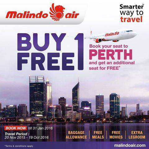 Malindo Air Buy 1 Free 1 Promotion To Perth