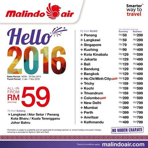 Malindo Air 1 Million Promo Seats Sale