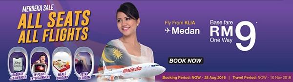 Malindo Air Merdeka Sale From RM9