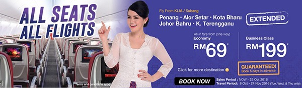 Malindo Air All Seats Promotion