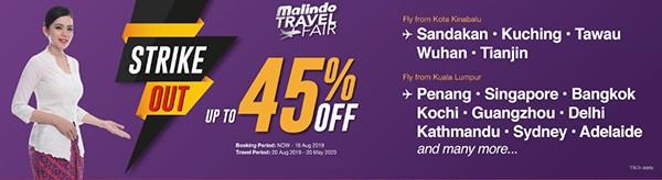 malindoair travel fair Strike Out promotion